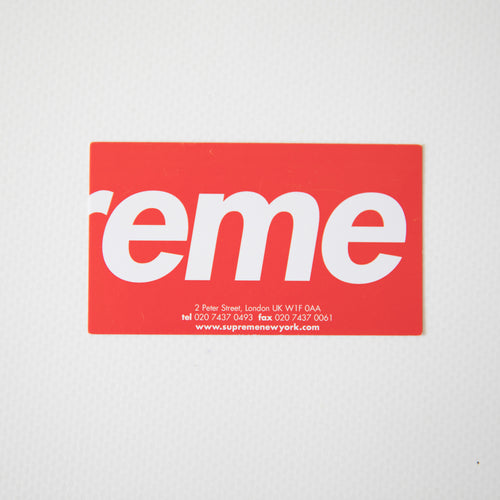 Supreme London Store Business Card (MINT)