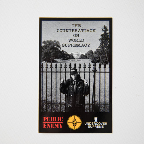 Supreme x UNDERCOVER x Public Enemy White House Sticker (MINT)