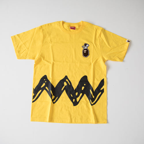 Bape x Peanuts Snoopy Charlie Brown Tee (Medium / MINT)