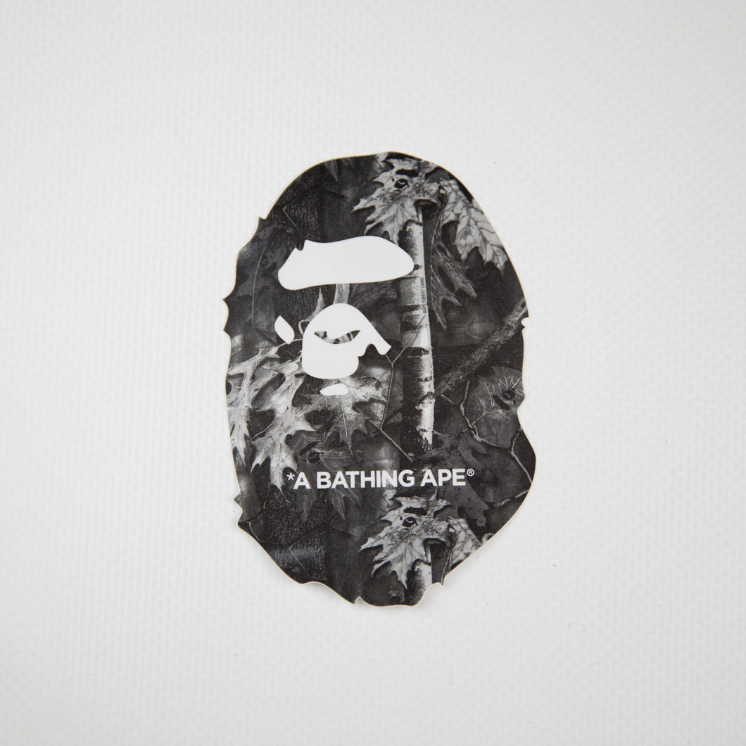 Bape Forest Camo Ape Head Sticker Black (MINT)
