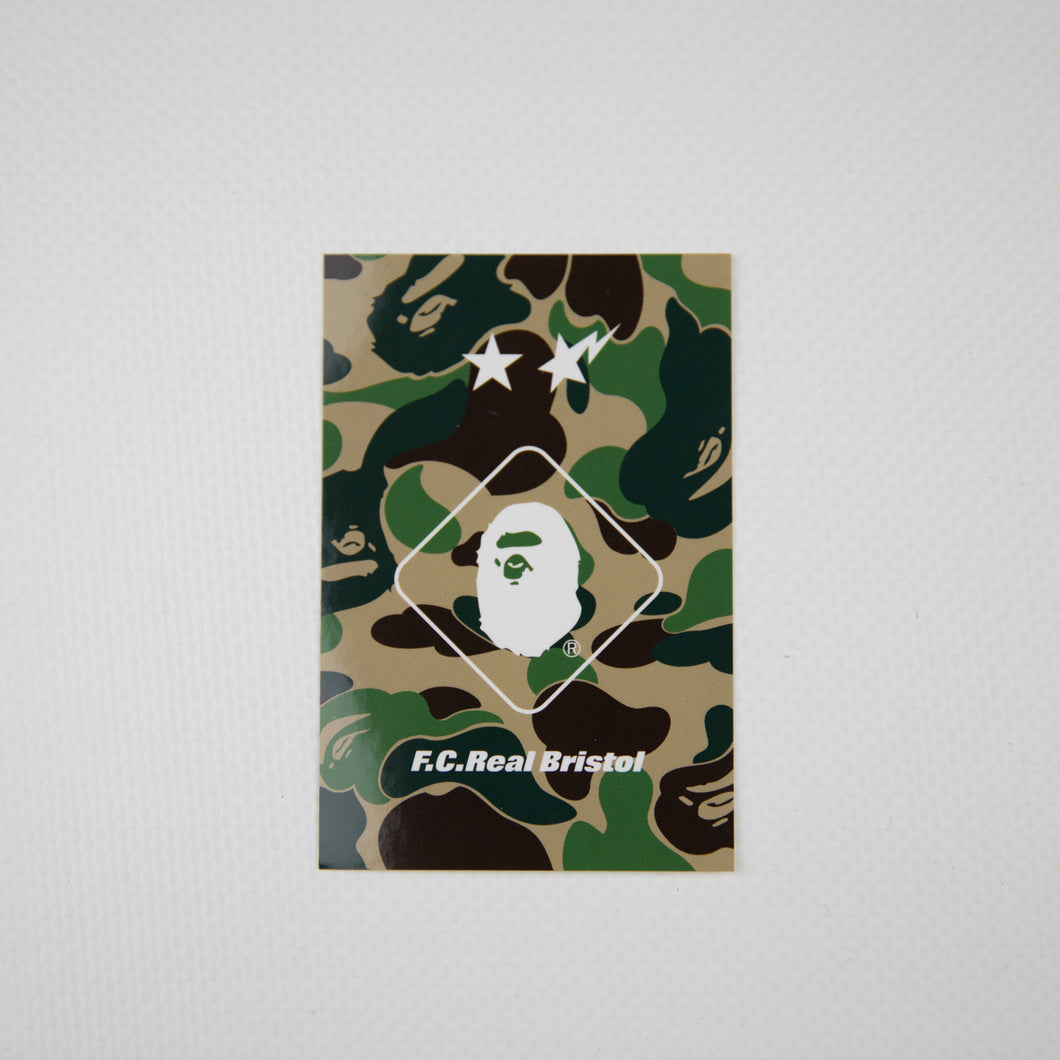 Bape x F.C. Real Bristol Green Camo Sticker (MINT)