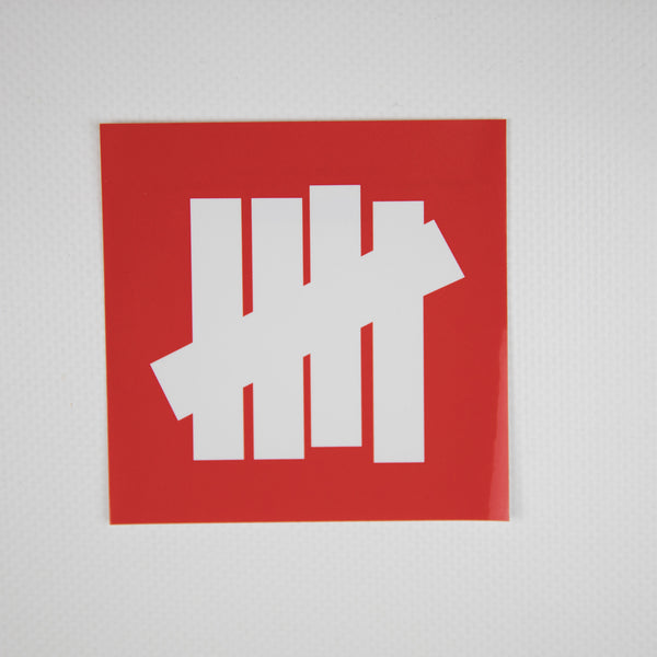 Undefeated Logo Sticker Red (MINT)