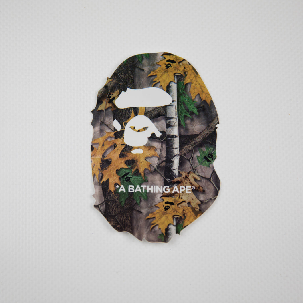 Bape Forest Camo Ape Head Sticker (MINT)