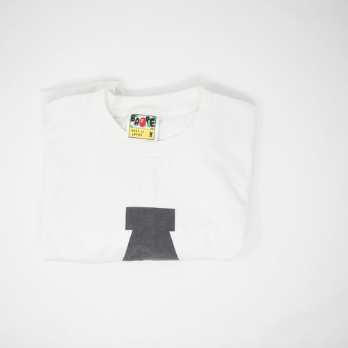 Bape In Lukewarm Water Tee White (Medium / USED)