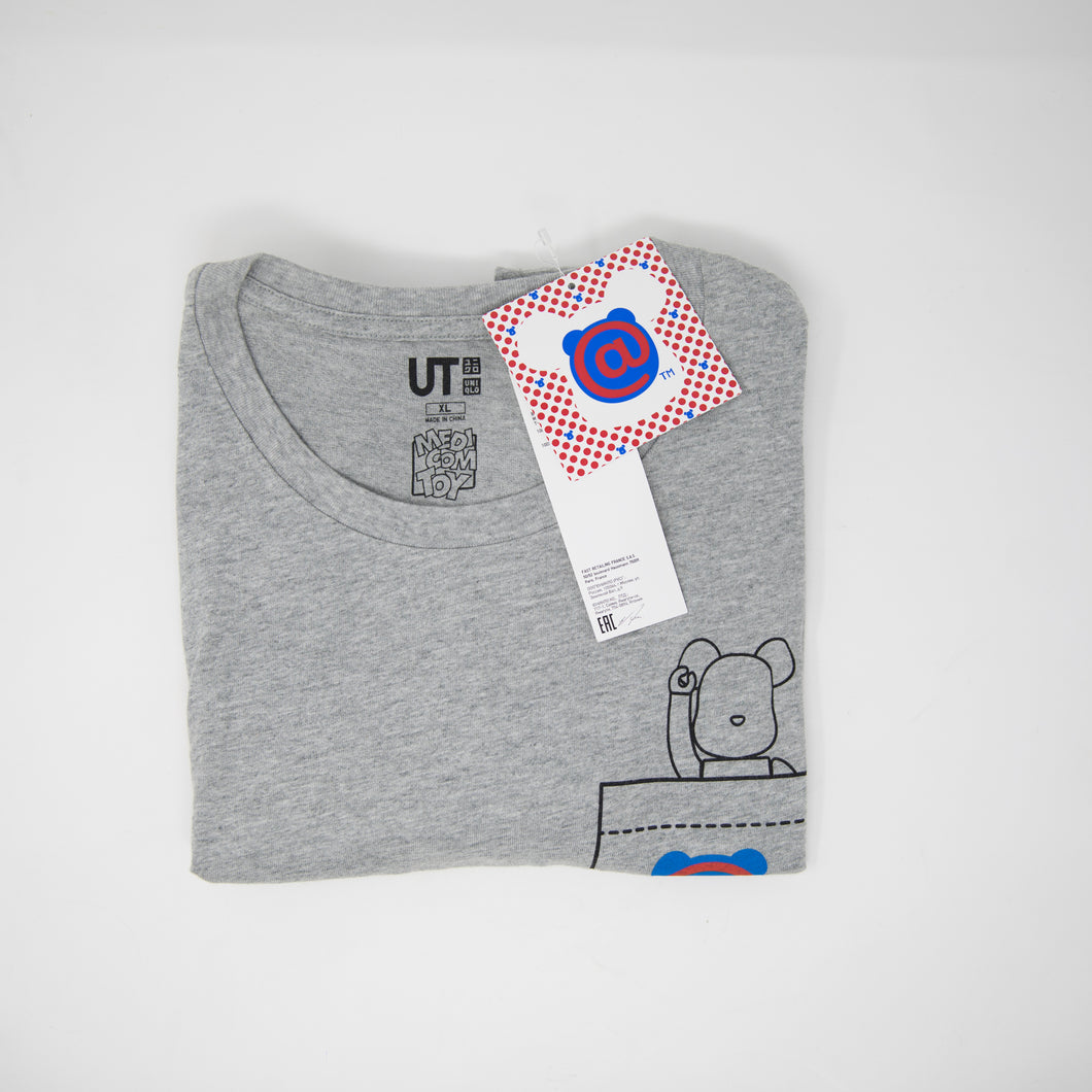 Medicom Toys x Uniqlo Bearbrick Grey Tee (XL / NEW)