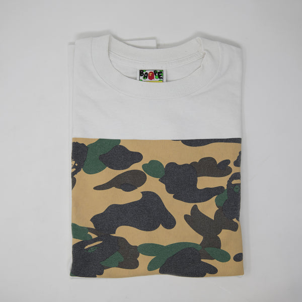 Bape Yellow Camo Box Tee (Medium / USED)