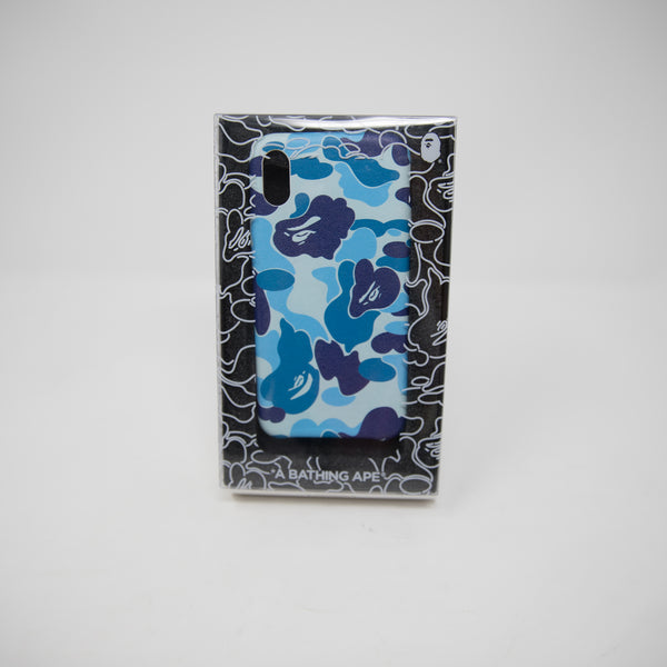 Bape Blue Camo iPhone X Phone Case (NEW)