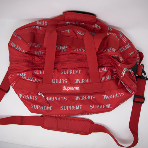 Supreme 3M Reflective Repeat Duffle Bag Red (USED)