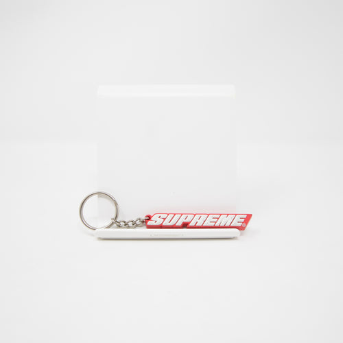 Supreme Bevel Logo Keychain Red (USED)