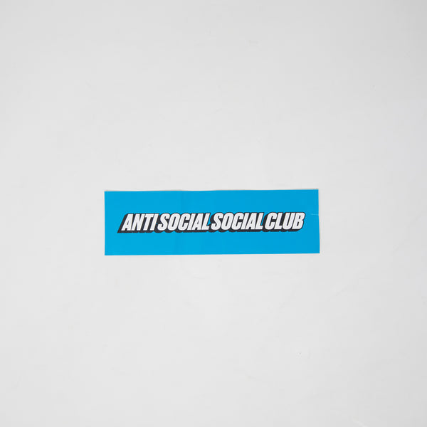 Anti Social Box Logo Sticker Blue (MINT)