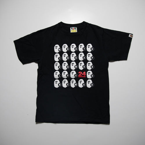 Bape WGM Ape Head 24th Anniversary Tee (Small / USED)