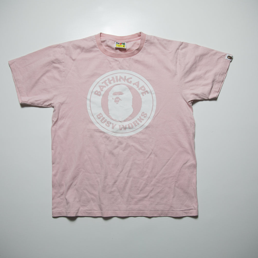 804a510b9f6 Bape Busy Works Tee Pink (Medium   USED) – Famous Grail