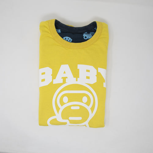 Bape Baby Milo Junk Food Monogram Reversible Tee (Medium / USED)