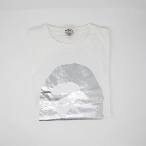 Bape Silver Ape Head Tee (Large / USED)