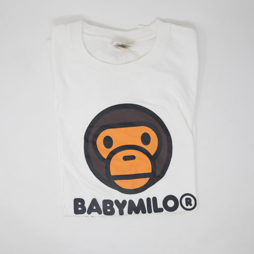 Bape Baby Milo White Tee (XL / USED)