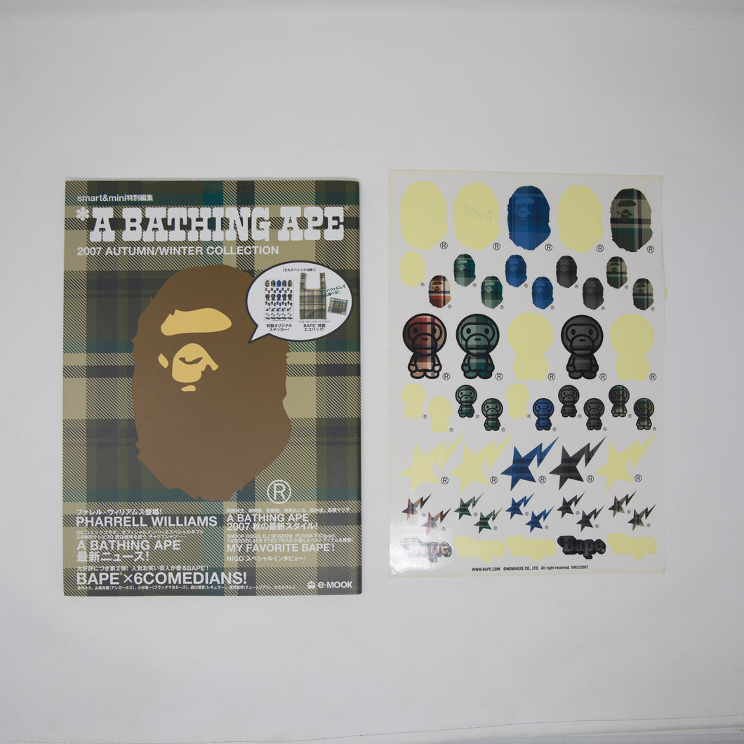 Bape Autumn / Winter 2007 Collection Magazine [Featuring Pharrell Williams] + Sticker Sheet (USED)