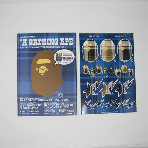 Bape Autumn / Winter 2007 ver. 1.1 Collection Magazine [Featuring M.I.A & DJ Shadow] + Sticker Sheet (USED)