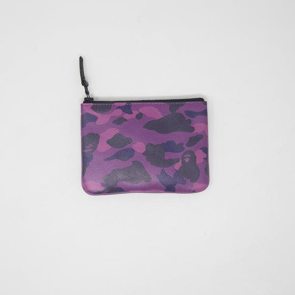 Bape Purple Camo Leather Pouch (NEW)