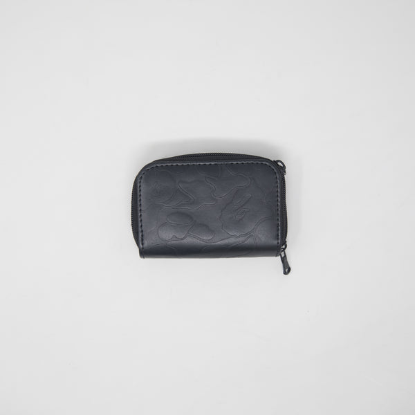 Bape Black Leather Camo Key Pouch / Wallet (MINT)