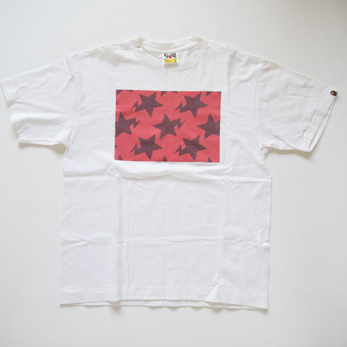 Bape Bapesta Red Box Tee (Large / USED)