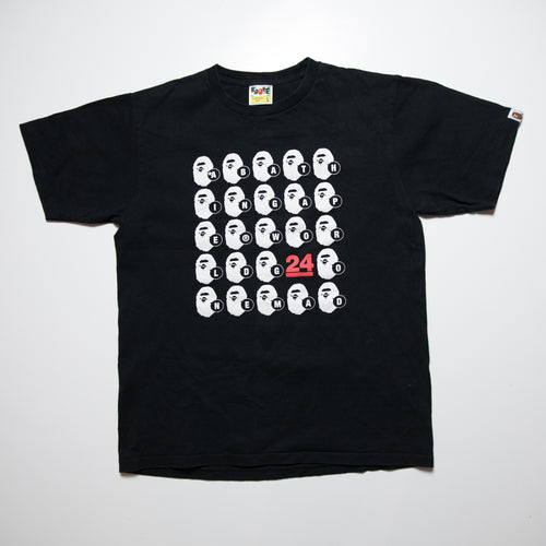 Bape WGM Ape Head 24th Anniversary Tee (Large / USED)