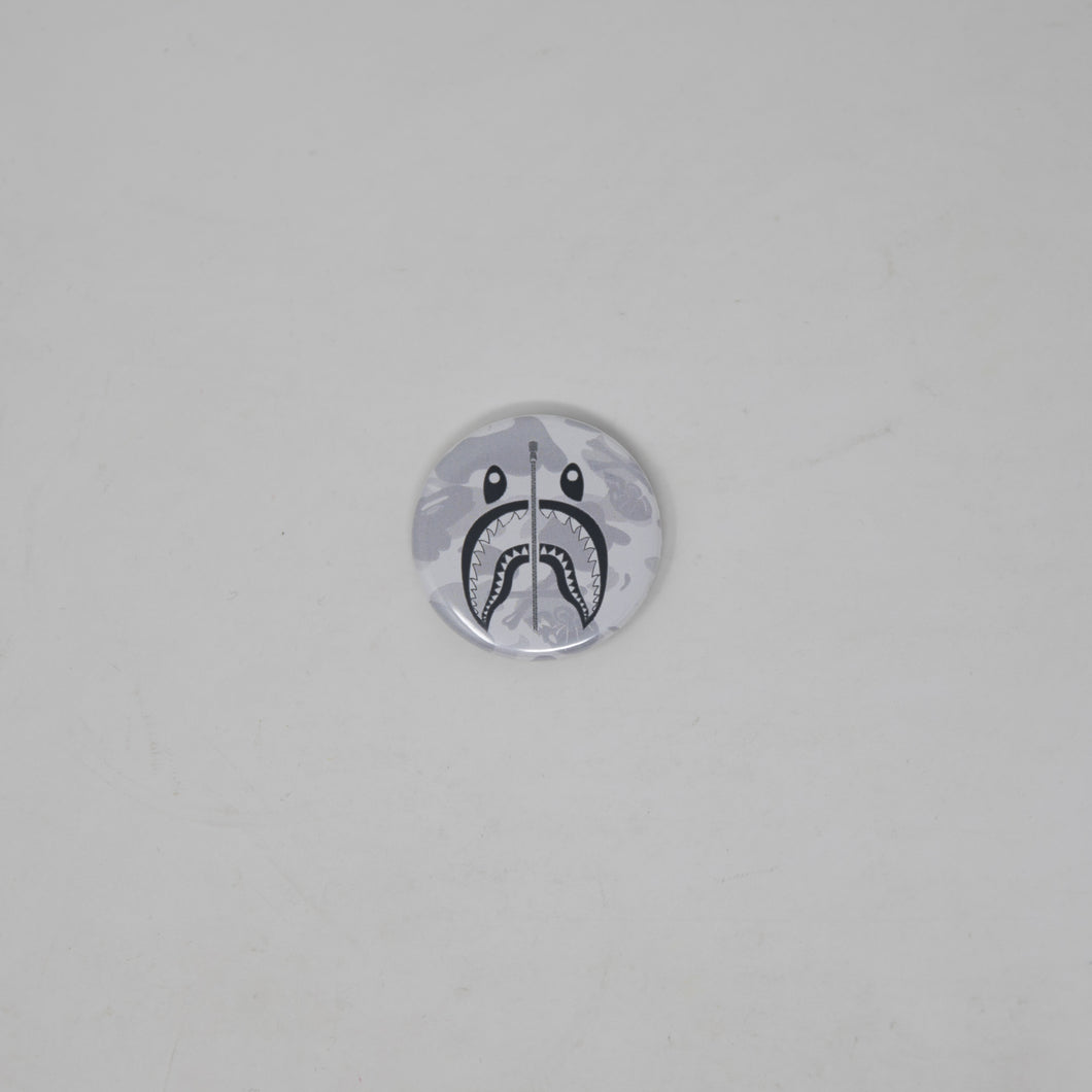 Bape x Neighbourhood White Camo Shark Pin (MINT)