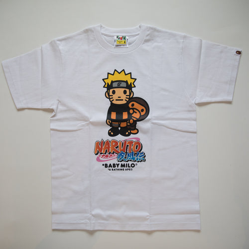 Bape x Naruto Baby Milo Tee White (Medium / NEW)