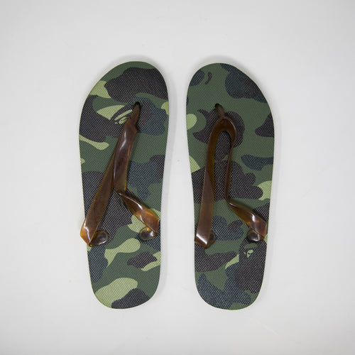 Bape Green Camo Sandals (MINT)