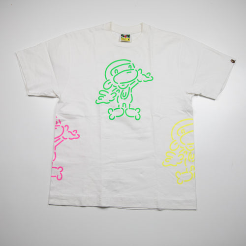 Bape Baby Milo Neon Tee (Medium / USED)