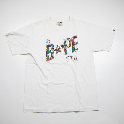 Bape Safari Bapesta Tee White (Medium / USED)