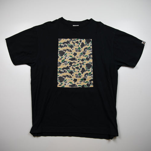 Bape Yellow Psyche Camo Box Tee (XL / USED)