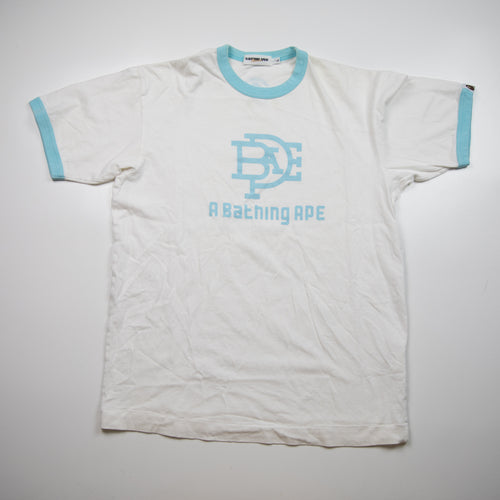 Bape Intertwined Logo Ringer Tee (Large / USED)