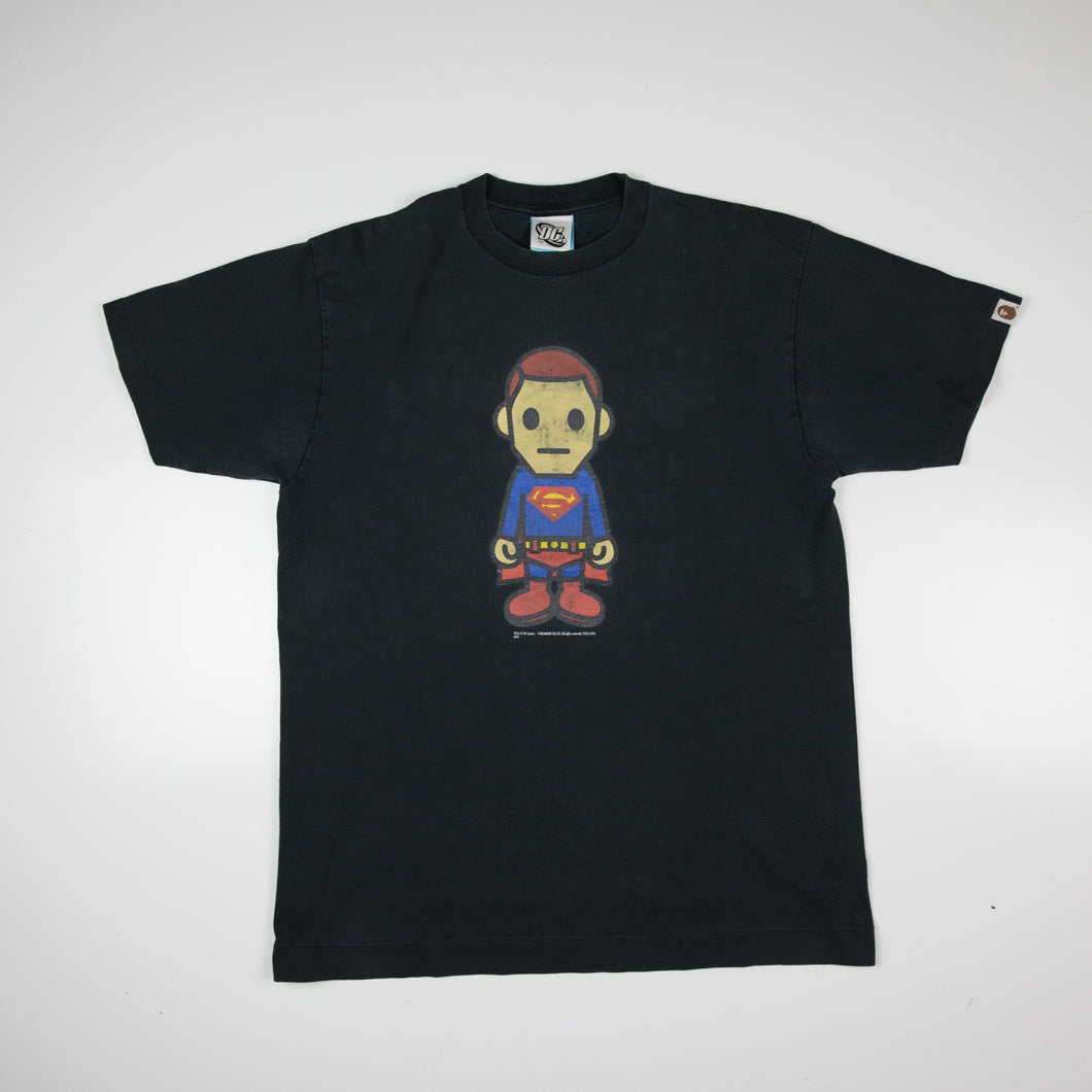Bape x DC Comic Superman Tee (Large / USED)