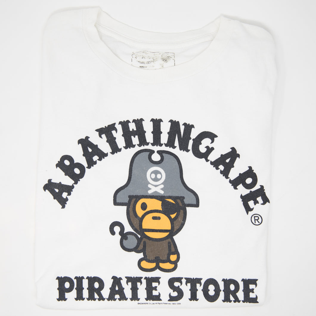 Bape Pirate Baby Milo College Tee (Small / USED)