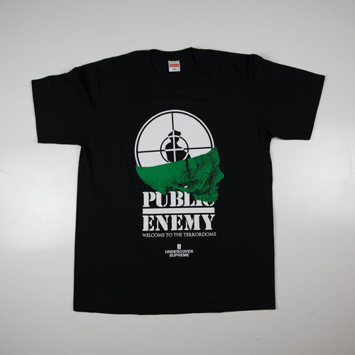 Supreme x UNDERCOVER x Public Enemy Terrordome Tee Black (Medium / USED)
