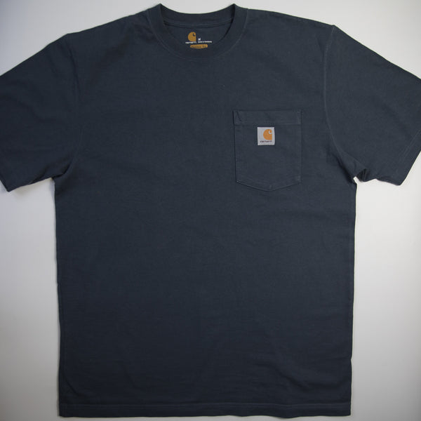 Carhartt WIP Logo Tee Navy (Medium / USED)