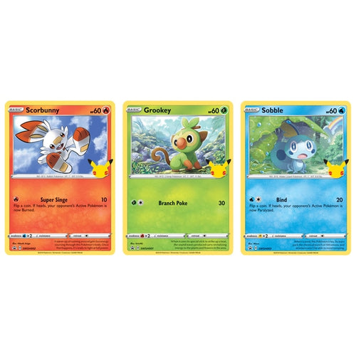 Pokemon Trading Card Game 25th Anniversary Galar Starter Pack (MINT)