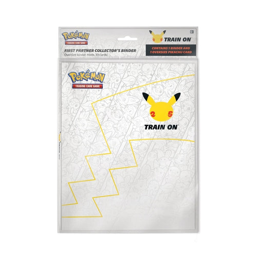 Pokemon 25th Anniversary First Partner Collector Binder + Pikachu Jumbo Card (MINT)