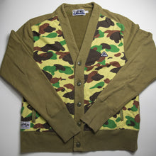 Bape Green Camo Cardigan Jumper (Large / USED)