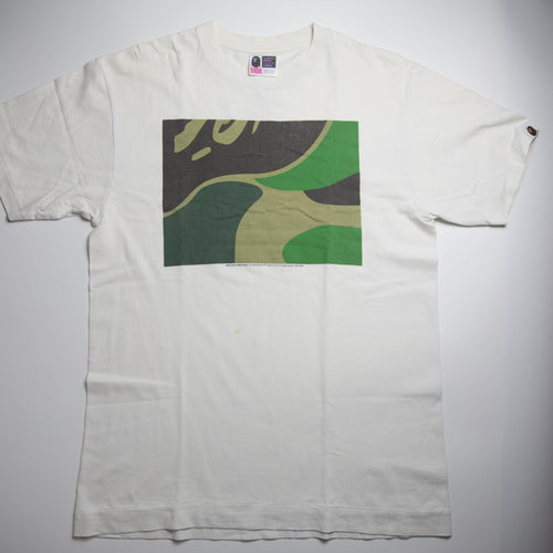 Bape Green Camo Box Tee (Medium / USED)