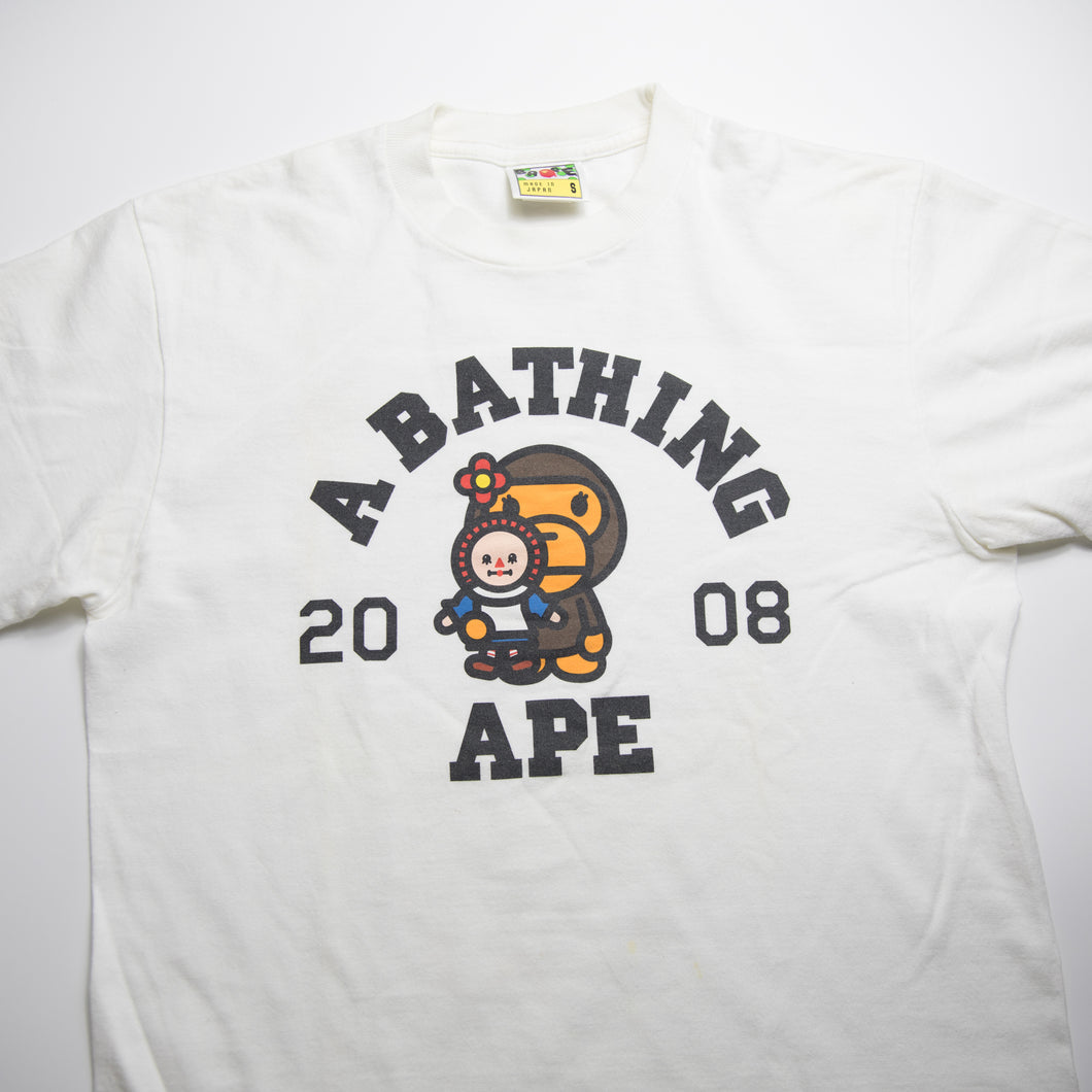 Bape Baby Milo Doll College Tee (Small / USED)