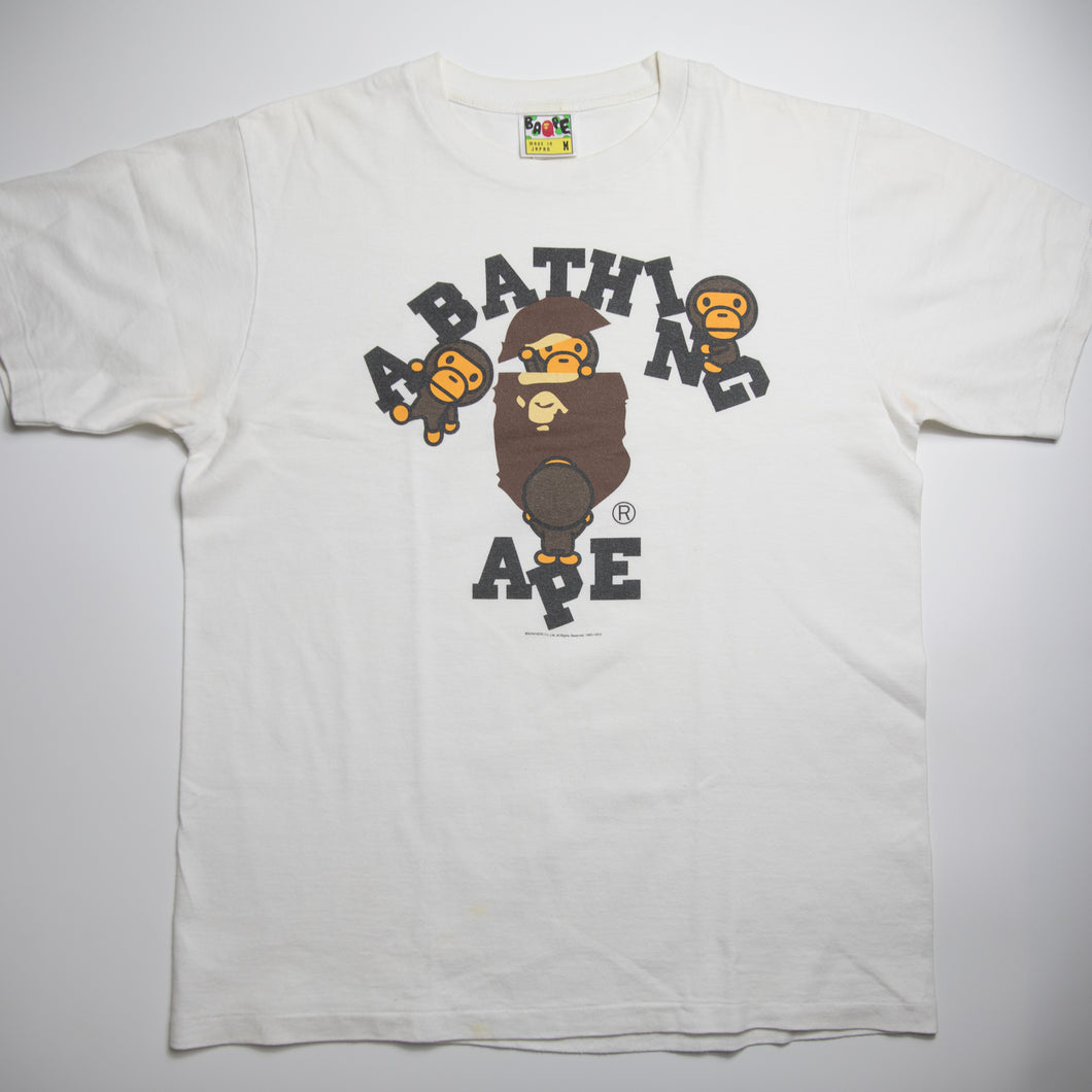 Bape Baby Milo College Tee (Medium / USED)