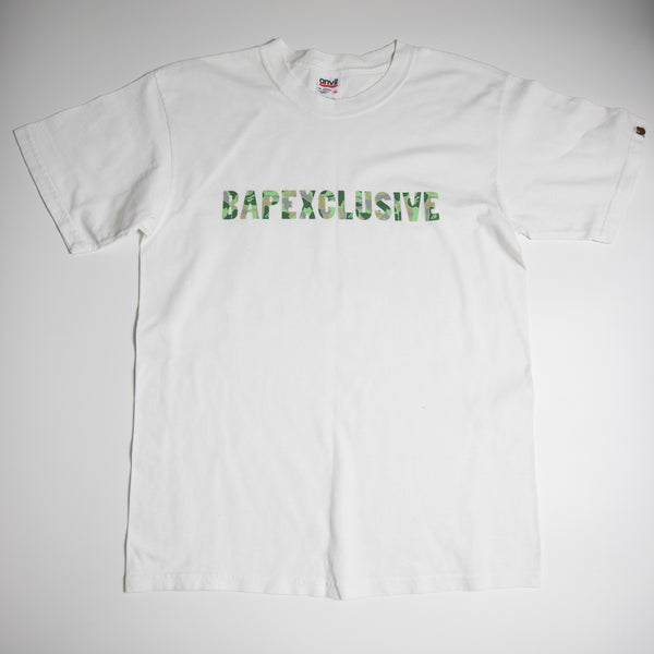 Bape Bapexclusive Green Camo Tee (Medium / USED)