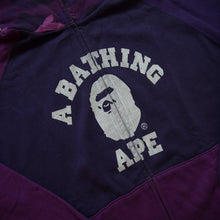 Bape Purple Camo College Hoodie (Large / USED)