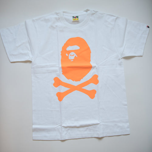 Bape Neon Pirate Ape Head Tee (Large / MINT)