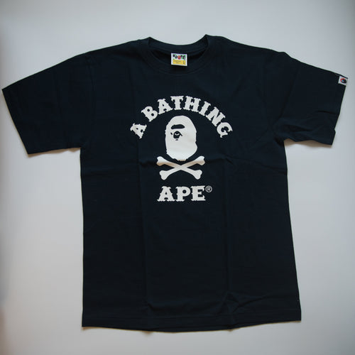 Bape Pirate College Tee Navy (Large / MINT)