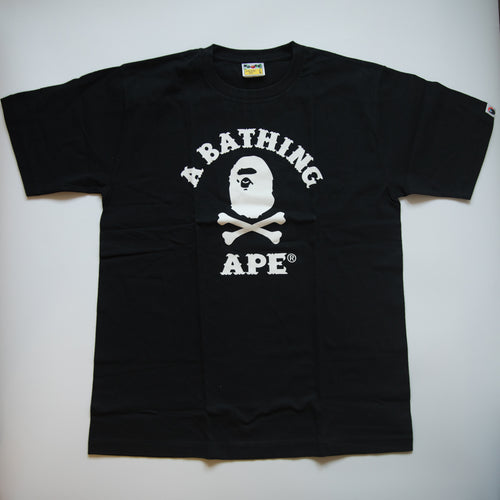 Bape Pirate College Tee Black (Large / MINT)