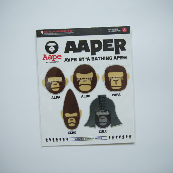 Aape Aaper Holographic Sticker Set (MINT)
