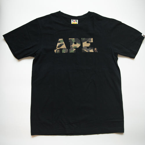 Bape Ape Green Camo Tee (Large / USED)