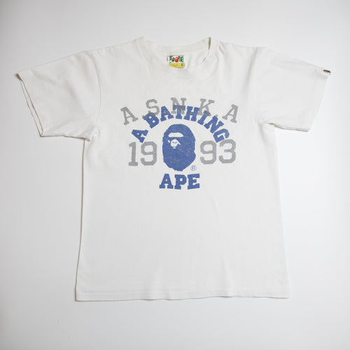 Bape ASNKA College Tee (Small / USED)